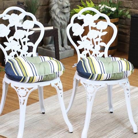 Sunnydaze Polyester Round Patio Seat Cushions - Set of 2