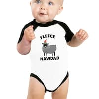 Fleece Navidad Baby Raglan Shirt Raglan First X-mas Baby Gifts