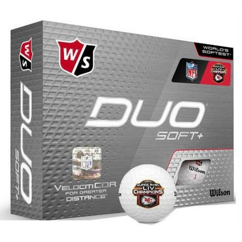 Wilson Staff NFL Super Bowl Champions Kansas City Chiefs Golf Balls Doz Duo Soft - One Size