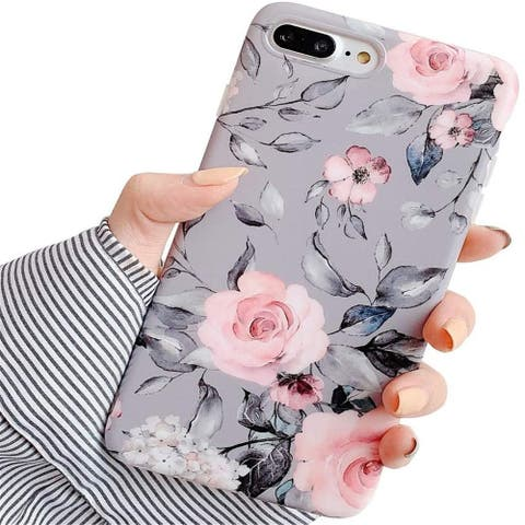 iPhone 8 Plus / 7 Plus Case for Girls, Flexible Soft Slim Fit Full-Around Protective Cute Phone Case Cover