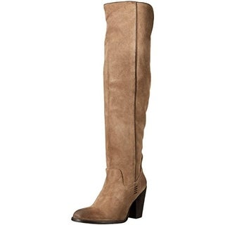 Mia Womens Nigel Riding Boots Suede Over-The-Knee