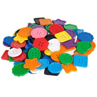 Colorful Assortment Of Buttons 100 Pieces