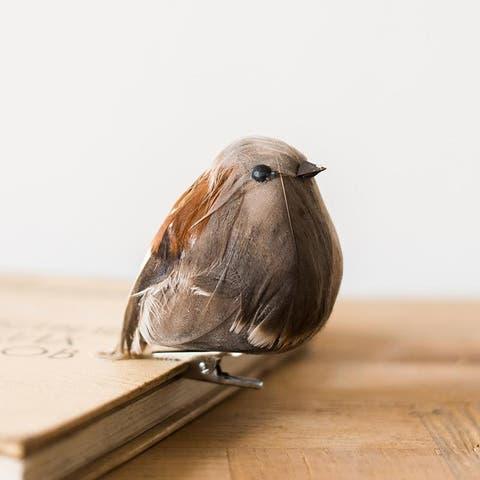 RusticReach Artificial Bird Ornament Randomly Picked Set of 3