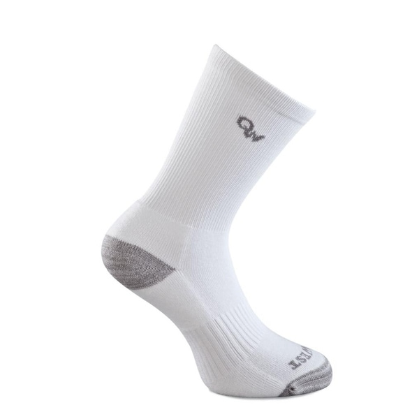 Old West Socks Kids 3 Pair Crew Reinforced White Gray