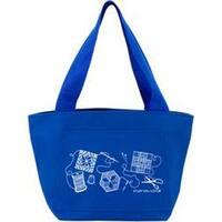 """Blue - K1c2 Quilt Happy Petite Project Bag 13""""X8""""X5"""""""