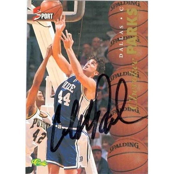 d5058ab45b6 Shop Cherokee Parks Autographed Basketball Card - Duke Blue Devils 1995 -  Free Shipping On Orders Over $45 - Overstock - 23794524