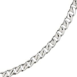 Chisel Stainless Steel Polished Fancy Link 8.5in Bracelet