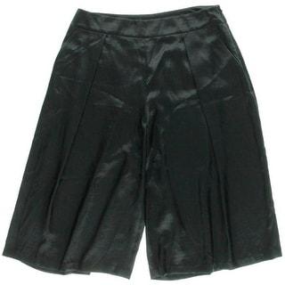 Robert Rodriguez Womens Satin Flat Front Wide Leg Shorts - 10