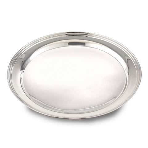 "Jiallo Stainless Steel Round Tray: 10"" diameter"
