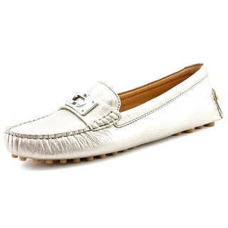Coach Napoleon Women  Round Toe Leather Silver Loafer