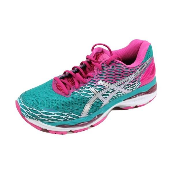 Asics Women's Gel Nimbus 18 Lapis/Silver-Sport Pink T650N 5393
