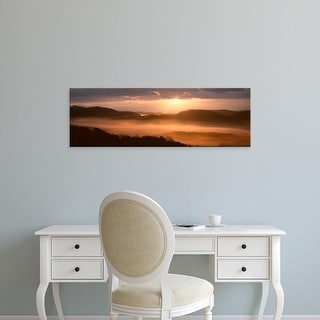 Easy Art Prints Panoramic Image 'Foothills Parkway, Sunrise, Great Smoky Mountains National Park, Tennessee' Canvas Art