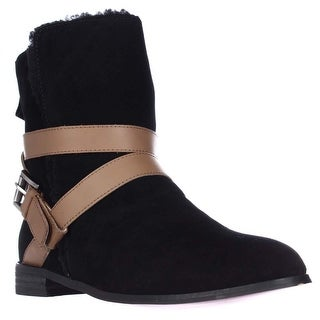 Twiggy London 433203 Faux Fur Lined Ankle Boots - Black