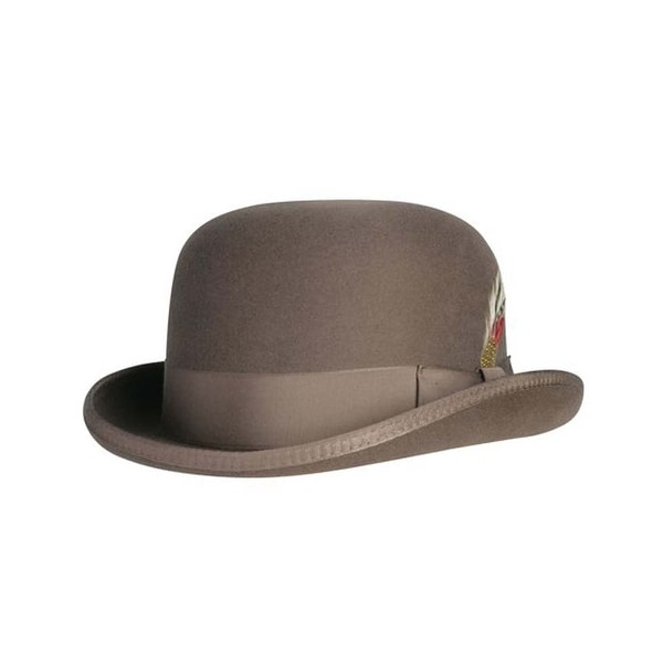 Shop Deluxe Morfelt Derby Hat in Steel Grey - Free Shipping Today -  Overstock - 23561961 87136d8aac0