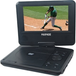 "Maxmade MDP701 Maxmade MDP 701 Portable DVD Player - 7"" Display - Black - DVD-R, CD-R - DVD Video - CD-DA - 1 x Headphone"