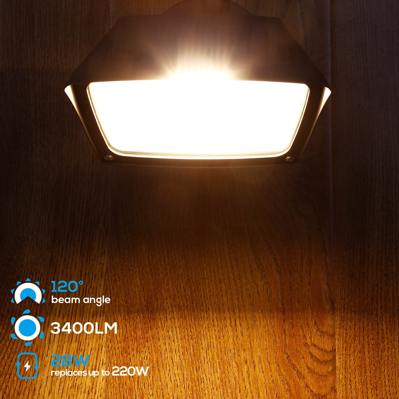 Shop Dusk To Dawn Led Flood Light Photocell Included 3000k 5000k Overstock 17570804