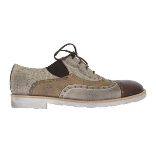 Dolce & Gabbana Dolce & Gabbana Beige Leather Raffia Wingtip Shoes - eu44-us11