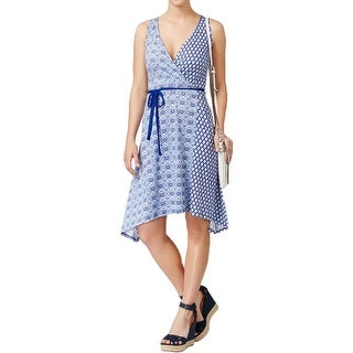 Tommy Hilfiger Womens Casual Dress Printed Asymmetrical