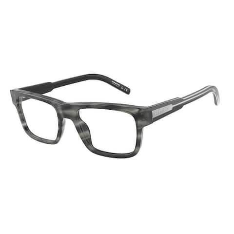 Arnette AN7190 1199 53 Shiny Striped Grey Man Rectangle Eyeglasses