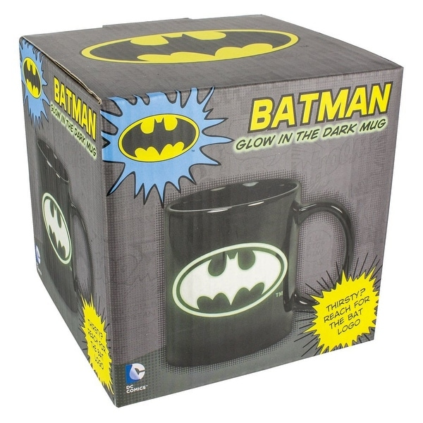 DC Comics Glow in the Dark Batman Logo 10oz. Ceramic Mug - Multi