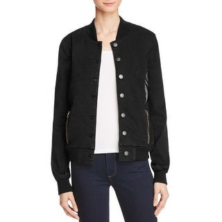 Hidden Jeans Womens Bomber Jacket Perforated Detail Zip Pockets