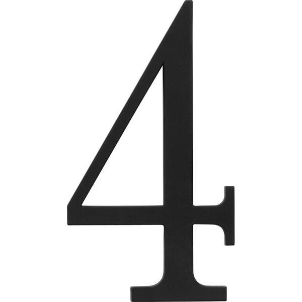 Atlas Homewares TRN4 Traditionalist Address Number 4 - Black - N/A