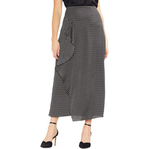 Vince Camuto Womens Maxi Skirt Printed Ruffled