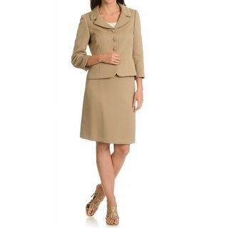 Tahari By ASL NEW Brown Women's Size 16 Embellished Skirt Suit Set