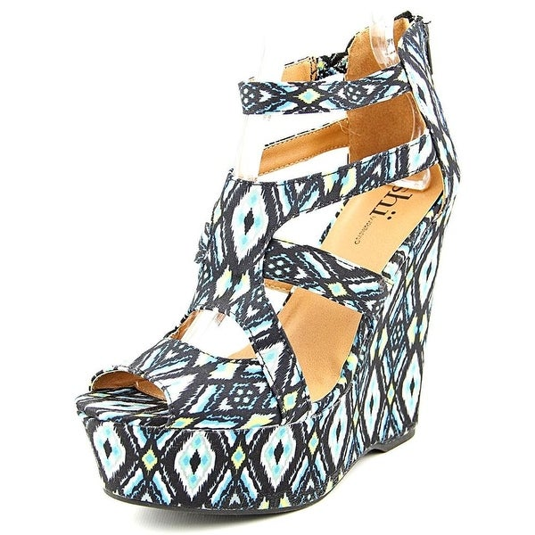 Shï by Journeys Womens Follow Me Fabric Peep Toe Casual Platform Sandals