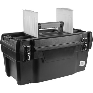 19-Inch Plastic Tool Box With Removable Top Tray - 692202