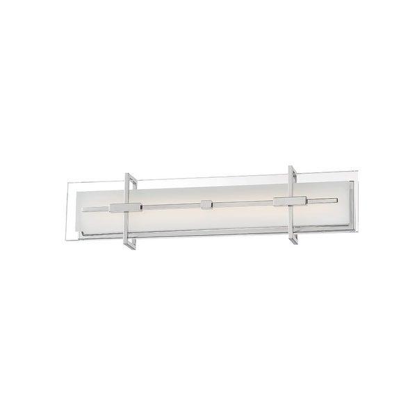 "Modern Forms WS-46527 Seismic 1-Light LED ADA Compliant Bathroom Bath Bar - 27"" Wide - Stainless Steel - N/A"