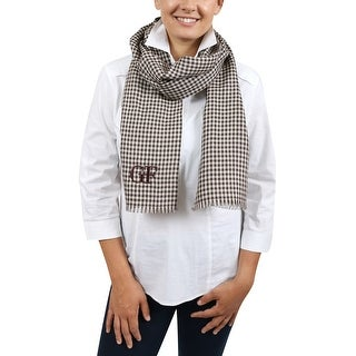 Gianfranco Ferre DU3C3308/2 Brown Checkered Scarf - 15-75