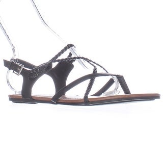 MIA Adrianna Flat Gladiator Sandals - Black