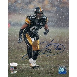 Hines Ward Autographed Pittsburgh Steelers 8x10 Photo Snow JSA