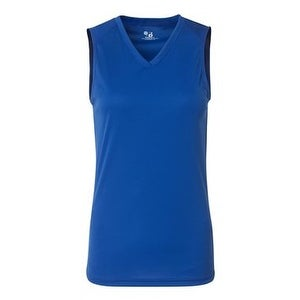 B-Core Women's Sleeveless T-Shirt - Royal - L