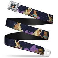 Jasmine Close Up Full Color Aladdin & Jasmine Magic Carpet Ride Scenes Seatbelt Belt