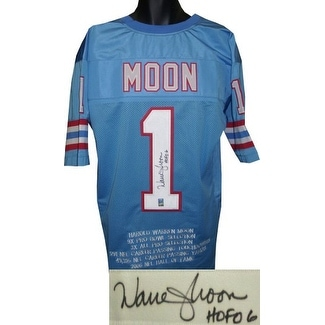 0ff29637d Shop Warren Moon signed Blue TB Custom Stitched Pro Style Football Jersey  HOF 06 w Embroidered Stats XL - Free Shipping Today - Overstock - 19873099