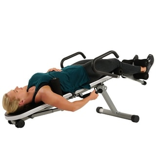 Link to Sunny Health & Fitness Invert Extend N Go Back Stretcher Bench - Black Similar Items in Fitness & Exercise Equipment