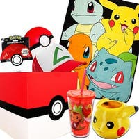 Pokemon Gift Box with Pokemon Character Fleece Blanket, Snapback Hat & More - multi