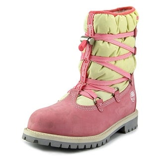 Timberland 6In Quilted Sweet Youth Round Toe Leather Snow Boot
