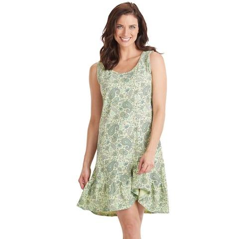 7e09e84c2bfdd Prairie Cotton Paisley Flounce Dress - Sleeveless with 36