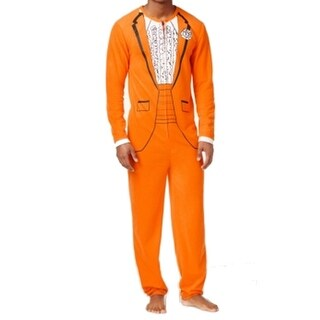 AMERICAN RAG NEW Orange Mens Size Large L Tux One-Piece Sleepwear