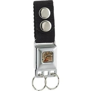 Ram Black Silver Mossy Oak Full Color Break Up Infinity Webbing Keychain