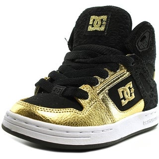 DC Shoes Rebound High Youth Round Toe Canvas Black Skate Shoe