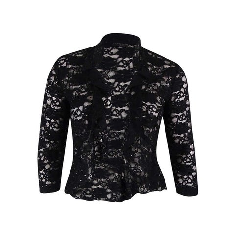 Connected Women's Sequin Lace Cardigan