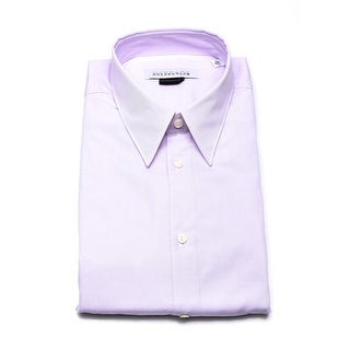 Versace Men Cotton Dress Shirt Lilac
