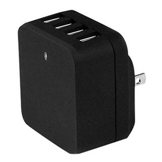 Startech Usb4pacbk 4 Port Usb Wall Charger 34W/6.8A Black International Travel