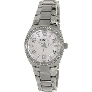 Fossil Women's Flash Silver Stainless-Steel Analog Quartz Fashion Watch