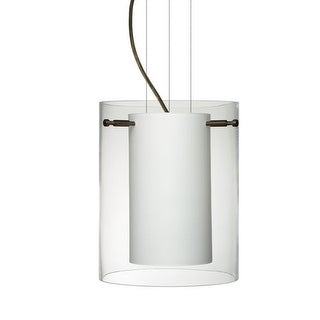 Besa Lighting 1KG-C00607 Pahu 1 Light Cable-Hung Pendant with Clear / Opal Glass