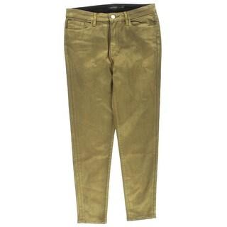 Lauren Ralph Lauren Womens Skinny Jeans Colored Coated